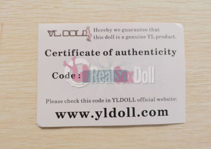 real sex doll brand authorization certificate (1)